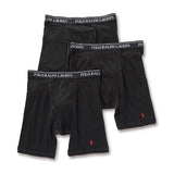 Polo Ralph Lauren Classic Fit Cotton Long Leg Boxer Brief (RCLBP3-PBD) Black