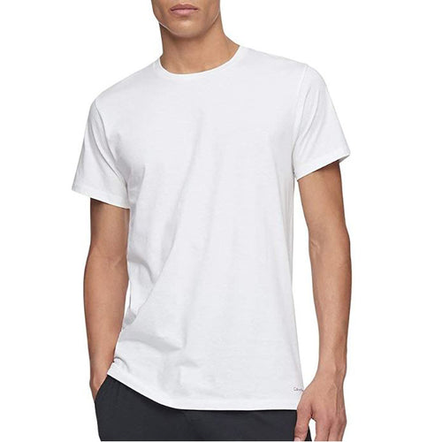 Calvin Klein Men's Cotton Classics Crew Neck T-Shirt White Pack of 3