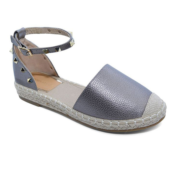 Victoria Adames Gaby Espadrilles Shoes Pewter