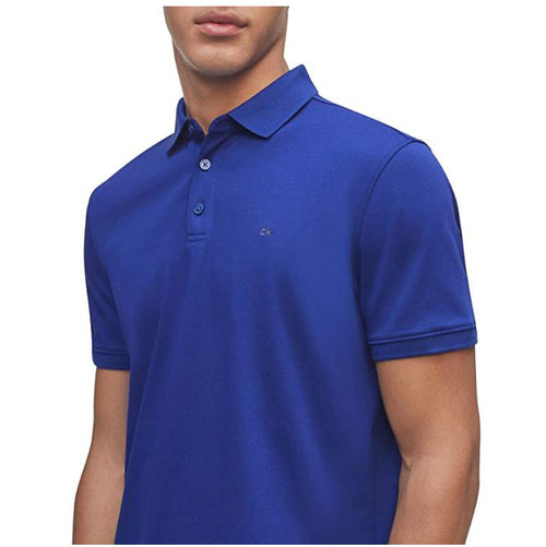 Calvin Klein Men's Liquid Touch Polo Solid with UV Protection Kinetic