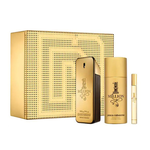 Paco Rabanne 1 Million 3pc Gift Set EDT 3.4 oz 100 ml Men
