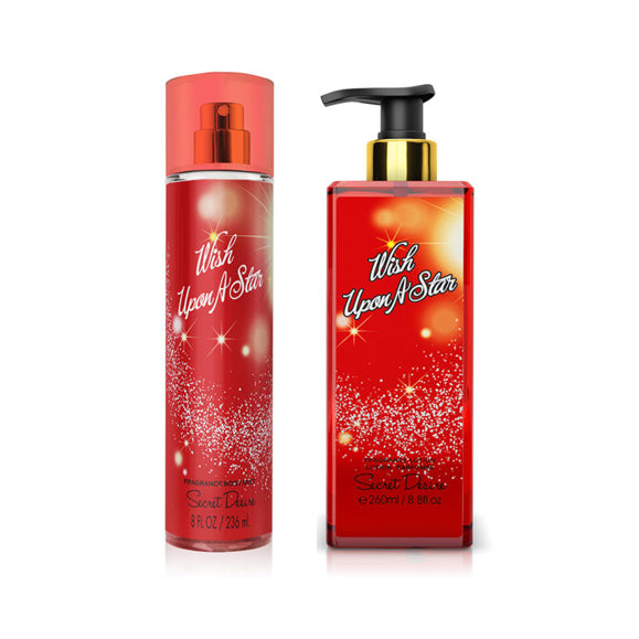 Secret Desire Wish Upon a Star Gift Set 2PC Body Mist + Body Lotion