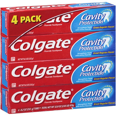 Colgate Cavity Protection 8 oz (4-Pack) Fluoride Toothpaste