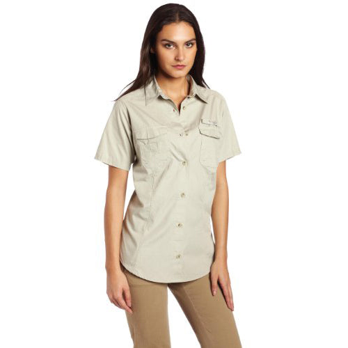 Columbia Women's Bonehead Short Sleeve Fishing Shirt Fossil (FL7311) X-SMALL