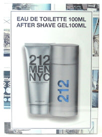 Carolina Herrera 212 Men NYC 2 Piece Gift Set EDT 3.4 oz Men