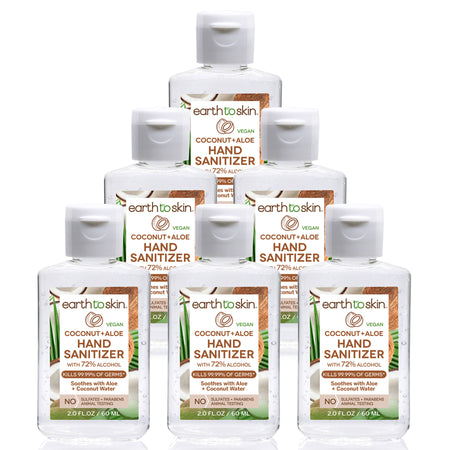 "Hand Sanitizer Advanced 2 oz Ethyl Alcohol 70% ""6-PACK"" by Gea Cosmetics Labs"