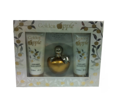 Gold Apple Women Gift Set Body Lotion + Show Gel + EDP 3.4 oz 100 ml