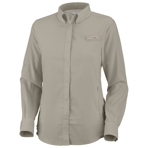 Columbia Tamiami II PFG Long Sleeve Shirt Womens Fossil (FL7278) X-SMALL