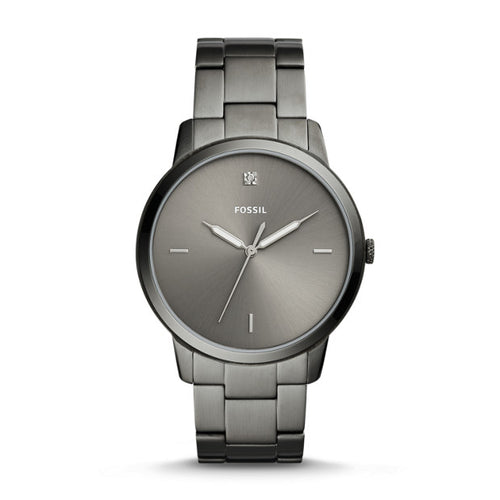 Fossil Men's The Minimalist 3H Quartz and Stainless Steel Plated Casual Watch, Color Grey (FS5456)