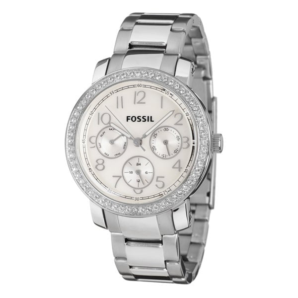 Fossil Stainless Steel Analog with Silver Dial Watch (ES2967) Women