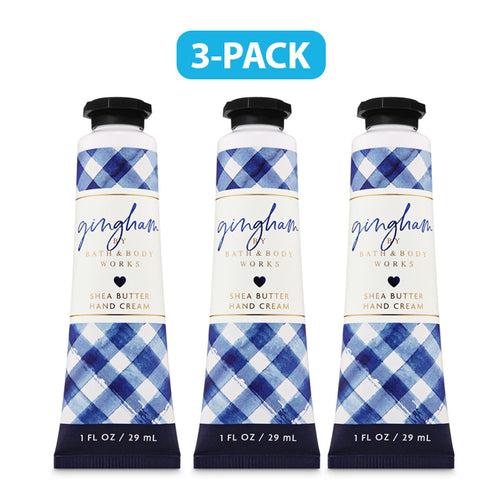 "Bath Body Works Gingham Hand Cream 1.0 oz ""3-PACK"""