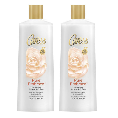 "Caress Pure Embrace Body Wash 18 oz 532 ml ""2-PACK"""