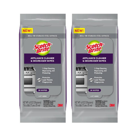"Scotch-Brite Kitchen Cleaner and Degreaser Wipes 28ct ""2-PACK"""