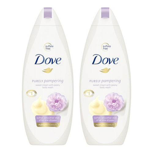 "Dove Sweet Cream & Peony Body Wash 750 ml ""2-PACK"" (Huge Size)"