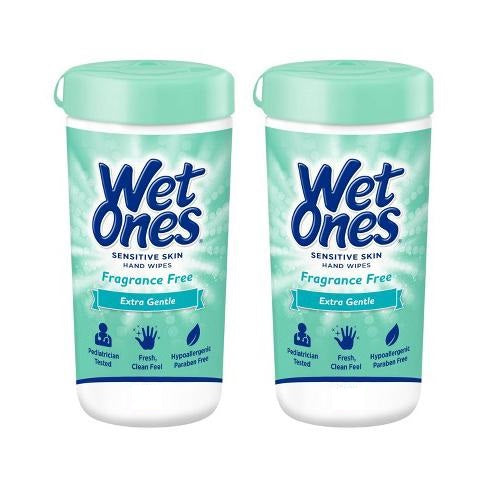 Wet Ones Sensitive Skin  Hand Wipes 40ct (2 pack)