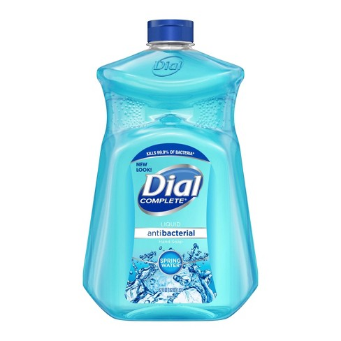 Dial Complete Liquid Antibacterial Hand Soap Spring Water 52 oz 1.53 L REFILL