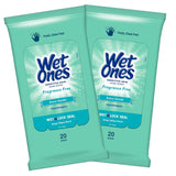 Wet Ones Sensitive Skin Hand Wipes Fragrance Free 20 ct (2-PACK)
