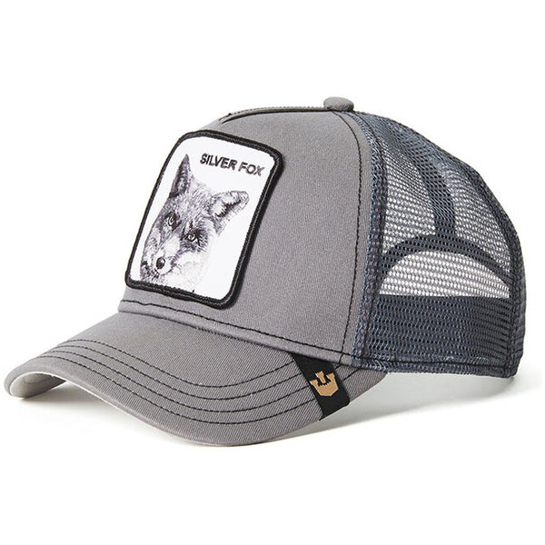 Goorin Bros Animal Farm Snap Back Trucker Hat Silver Fox Grey
