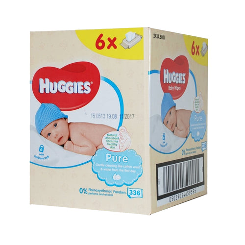Huggies Pure Baby Wipes (Box of 6 packs)