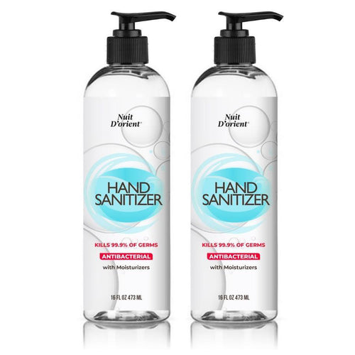 "Antibacterial Hand Sanitizer with Moisturizers 16 oz - 473 ml ""2 Pack"""
