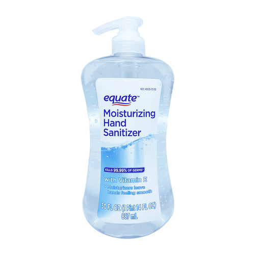 Equate Moisturizing Hand Gel Sanitizer with Vitamin E 30 oz