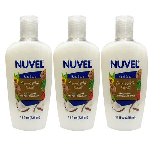"Nuvel Hand Soap Coconut Milk Sunset 11 oz ""3-PACK"""