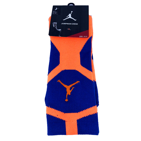 Air Jordan Jumpman Dri-Fit Light Orange Blue Mens Socks (589042-481)