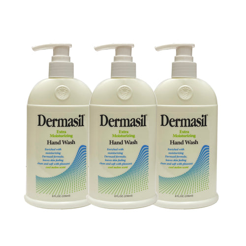 "Dermasil Extra Moisturizing Hand Wash Cool Melon Scent 8 oz ""3-PACK"""