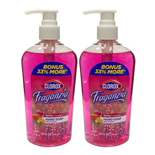 Clorox Fraganzia Hand Soap Spring 10 oz (Pack Of 2)