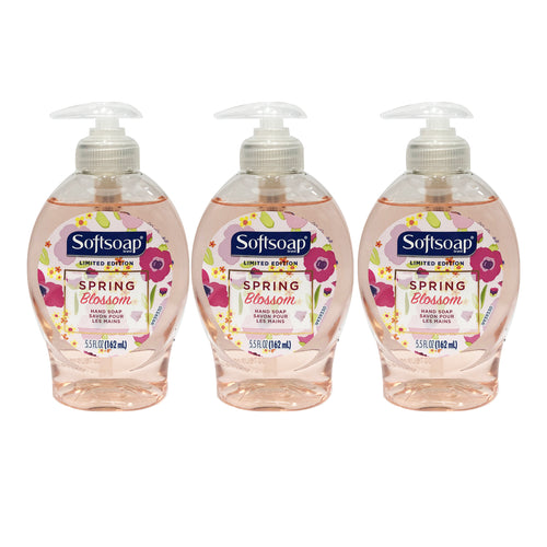 "Softsoap Spring Blossom Hand Soap 5.5 oz 162 ml ""3-PACK"""