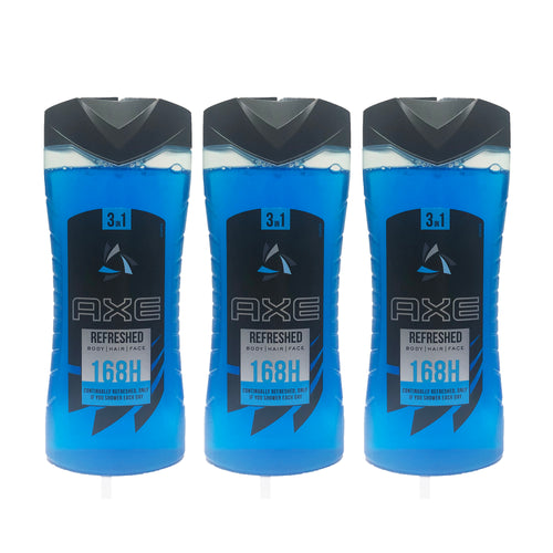 "AXE Refreshed 168H Shower Gel 400 ml Men ""3-PACK"""