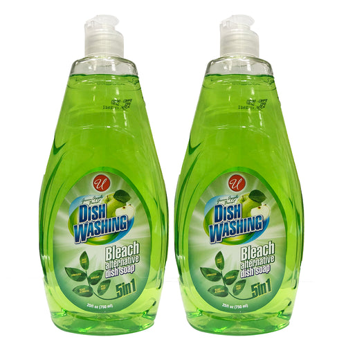 "Dish Washing 5in1 Green Apple Burst 25 oz 750 ml ""2-PACK"" by Universal"