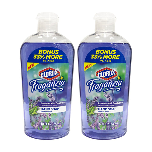 Clorox Fraganzia Hand Soap Lavender With Eucalyptus 10 oz (Pack Of 2)