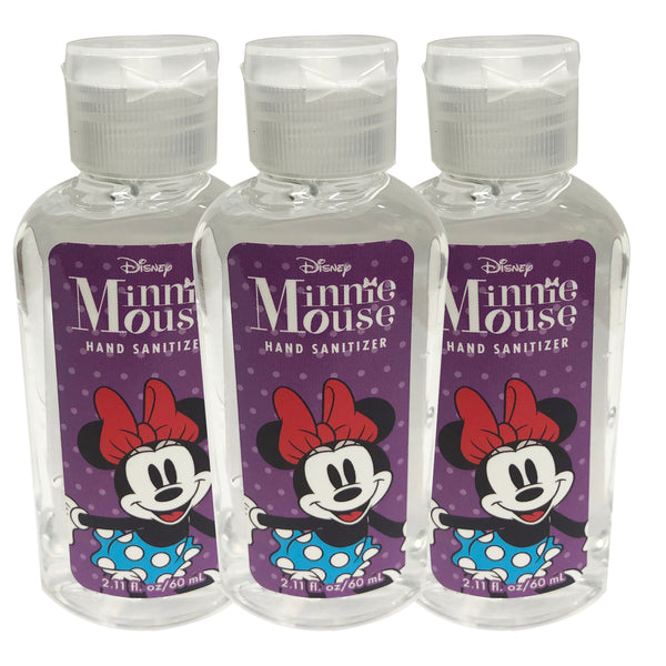 "Disney Minnie Mouse Hand Sanitizer 2.11 oz ""3-PACK"" PURPLE"