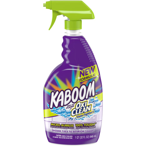 Kaboom Shower, Tub & Tile with the power of OxiClean Stainfighters, 32oz. Bathroom Cleaner