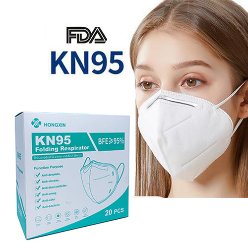 KN95 Face Mask  Folding Respirator 20 pcs by Hongxin