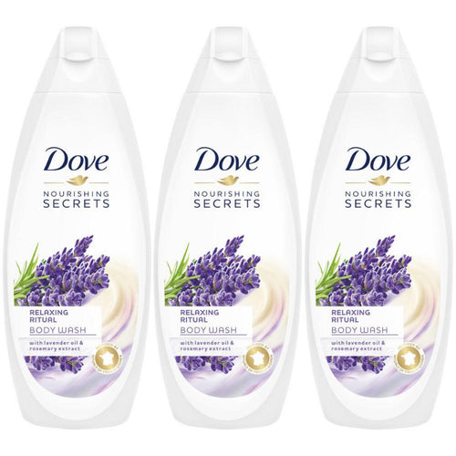 "Dove Body Wash Relaxing Ritual Lavender & Rosemary Extract 500 ml ""3-PACK"""