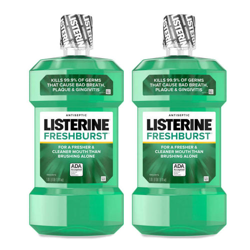 "Listerine Antiseptic Mouthwash Spearmint 1.0 L ""2-PACK"""