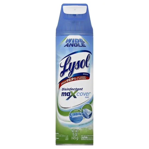 Lysol Max Cover Disinfectant Mist, Garden After Rain, 15 oz