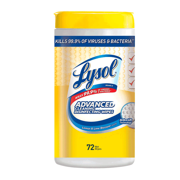 Lysol Advanced Cleaning Disinfecting Wipes 72 count