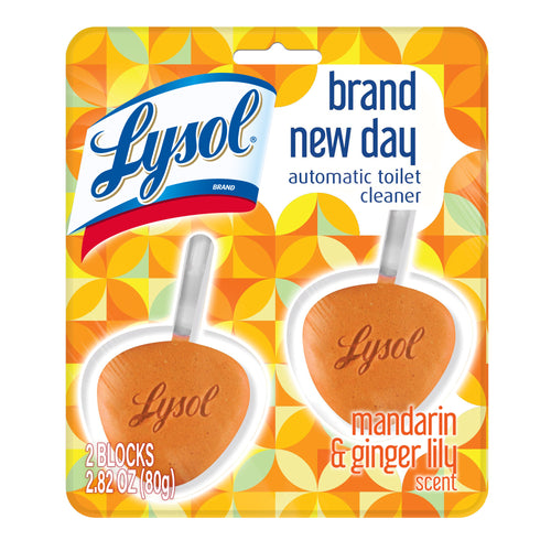 Lysol Automatic Toilet Bowl Cleaner 2ct Brand New Day Mandarin & Ginger