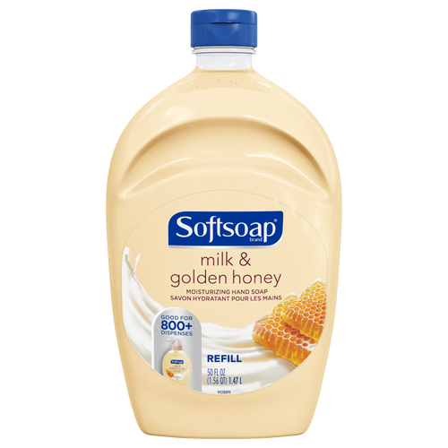 Softsoap Liquid Hand Soap Refill, Milk & Golden Honey - 50 oz
