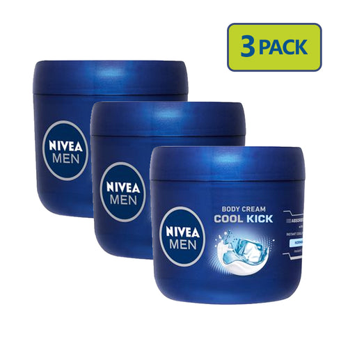 "Nivea Men Body Cream 400 ml ""3-PACK"""