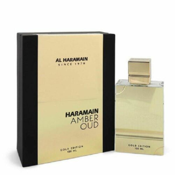 Haramain Amber Oud Gold Edition EDP 4.0 oz 120 ml HUGE SIZE!