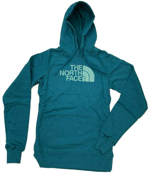 The North Face Women's Patterned Half Dome Hoodie-Harbor Blue