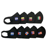 Masks Black COUNTRY FLAGS Reusable & Washable