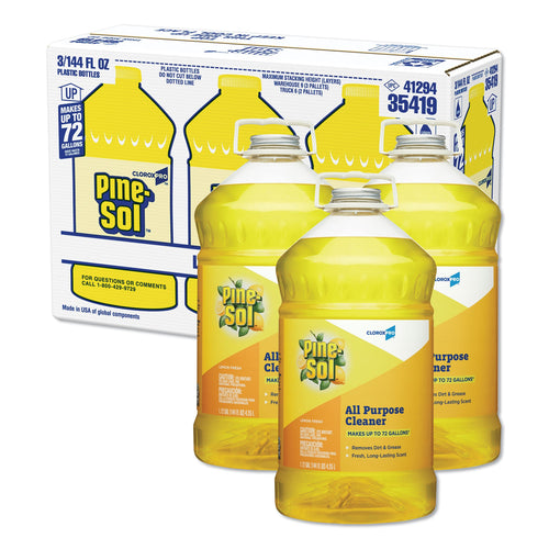Clorox Pine-Sol All Purpose Cleaner 144 oz. Lemon Fresh Scent (Pack of 3)