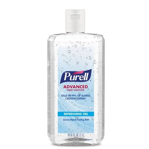 Purell Advanced Hand Sanitizer Refreshing Gel Pump Bottle  33.8 fl oz