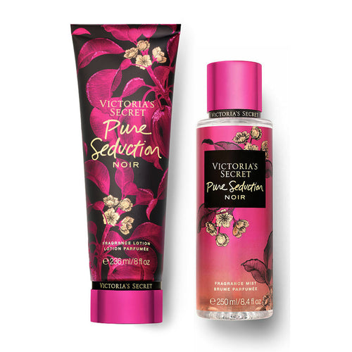 "Victoria's Secret Pure Seduction Noir Mist 8.4 oz & Body Lotion 8.0 oz ""2-PACK"""