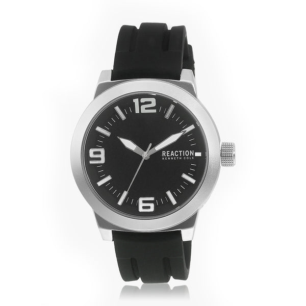 Reaction By Kenneth Cole Black/Black Analog Watch (Rk50092003) Men